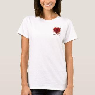 Lilien-Herz-Taschen-Entwurf T-Shirt