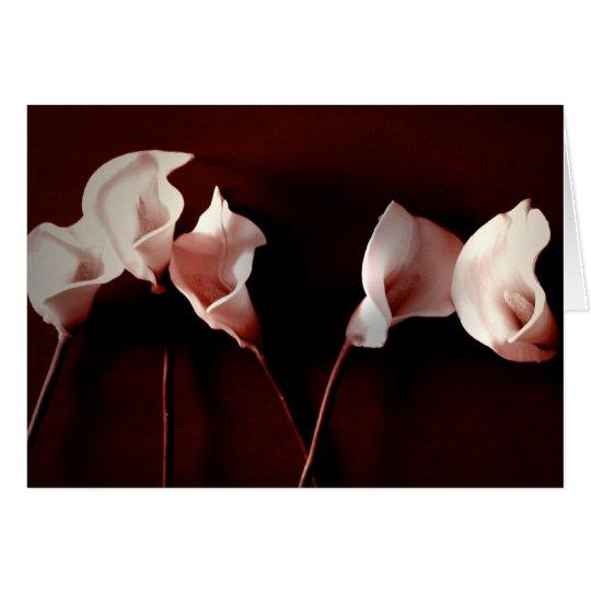 Lilien-Liebe Grußkarte