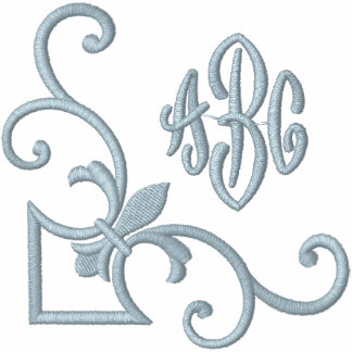 Lilien-Monogramm Kapuzenpulli