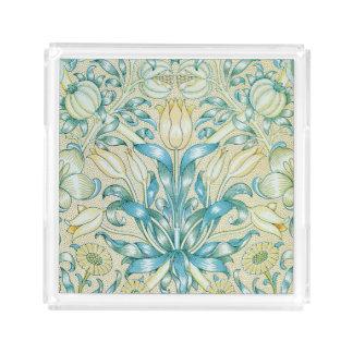 Lilien-und Granatapfel-Vintages Blumen Acryl Tablett