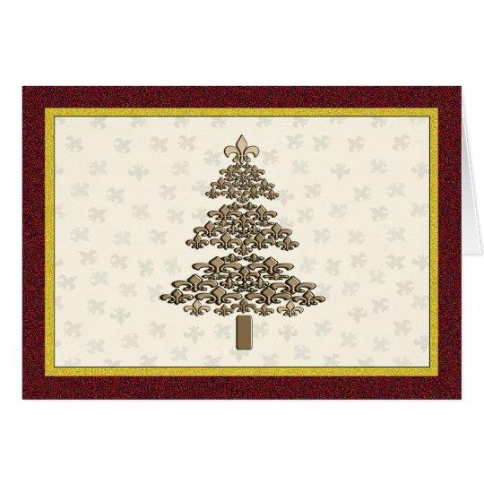 Lilien-Weihnachtsbaum-Gruß Grußkarte