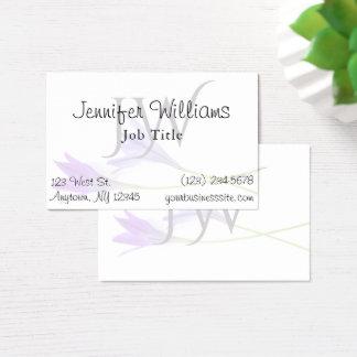 Lilien-weiße berufliche visitenkarte