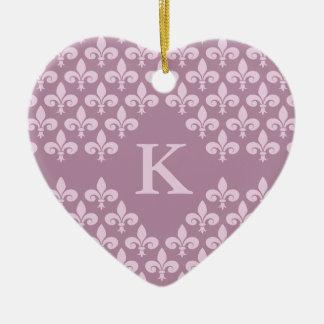 Lilienverzierung für ein Paar, fertigen besonders Keramik Herz-Ornament