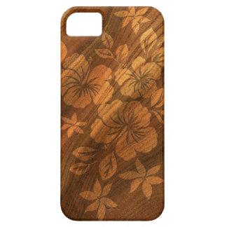 Lilikoi Hibiskus-hawaiisches Imitat hölzernes iPhone 5 Etui