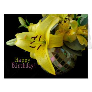Lilly Blumenstrauß-Geburtstags-Karte Karte