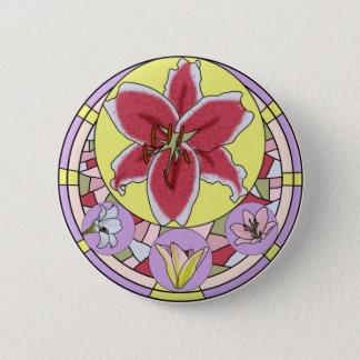 Lilly Buntglas Runder Button 5,1 Cm