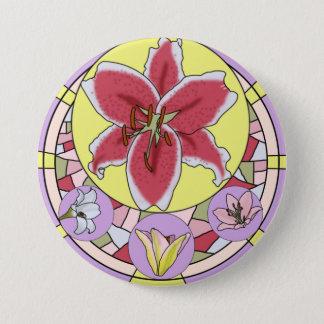 Lilly Buntglas Runder Button 7,6 Cm