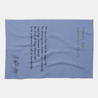 Limerick des Verstandes das Augebereist Tee-Tuch Küchentuch