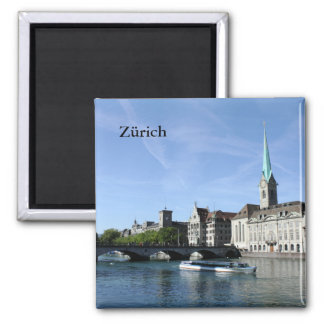 Limmat-Fluss in Zürich Quadratischer Magnet