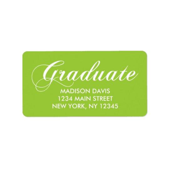 Limone grüne Abschluss-Adressen-Etiketten Adressaufkleber