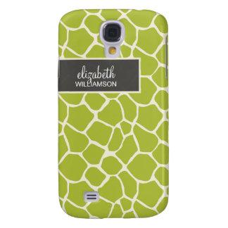 Limone grüne Giraffe Pern Galaxy S4 Hülle