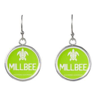 Limone grüne Millbee Ohrringe