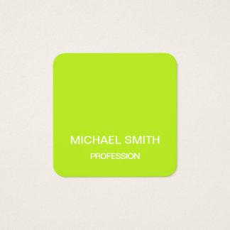 Limone grüne unbedeutende trendy Geschäftskarte Quadratische Visitenkarte