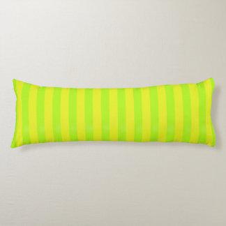 Limone grüne Zen-Streifen XXL Kissen