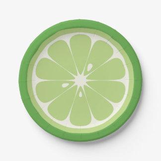 Limone Scheibe Pappteller