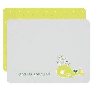 Limone schwangere Mamma-Wal-Baby-Dusche danken 10,8 X 14 Cm Einladungskarte