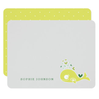 Limone schwangere Mamma-Wal-Baby-Dusche danken Karte