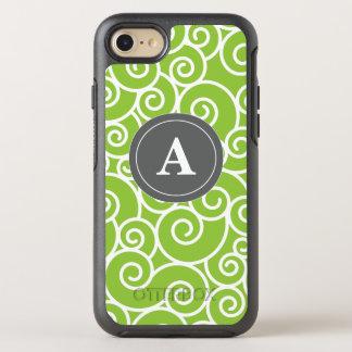 Limoner grüner grauer Wirbel OtterBox Symmetry iPhone 8/7 Hülle