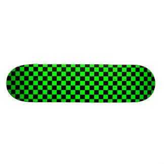Limoner grüner und schwarzer Checkered Skateboard 21,6 Cm Skateboard Deck