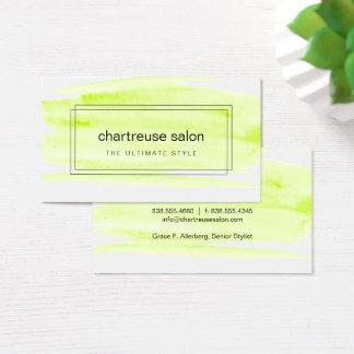 Limoner grüner Watercolor eingepackt Visitenkarte