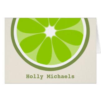 Limones personalisiertes Notecard Karte
