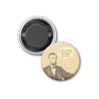 Lincoln-Alter oder Engels-historisches Zitat Runder Magnet 3,2 Cm