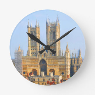 Lincoln, England Runde Wanduhr