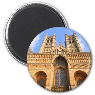 Lincoln-Kathedrale Runder Magnet 5,1 Cm