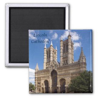 Lincoln-Kathedralenandenken-Foto Quadratischer Magnet