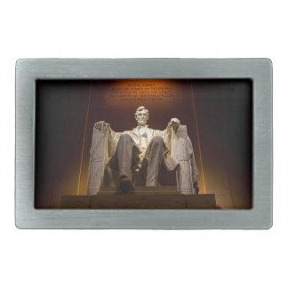Lincoln Memorial nachts - Washington DC Rechteckige Gürtelschnalle