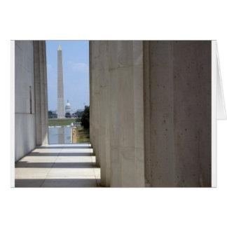 Lincoln Memorial Washington Monument Karte