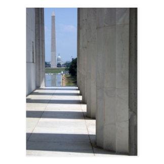 Lincoln Memorial Washington Monument Postkarte