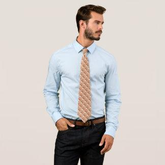 Lincoln-Penny-Rückseiten-Satin-Hahnentrittmuster Krawatte