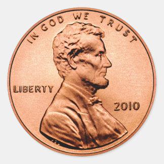 Lincoln-Penny Runder Aufkleber