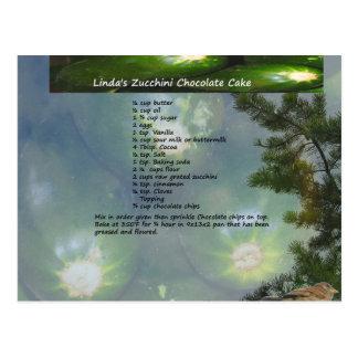 Lindas Zucchini-Schokoladen-Kuchen-Postkarte Postkarte