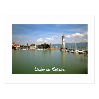 Lindau im Bodensee in Deutschland - Postkarte