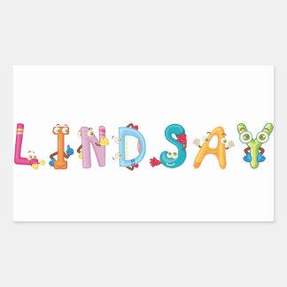 Lindsay-Aufkleber Rechteckiger Aufkleber