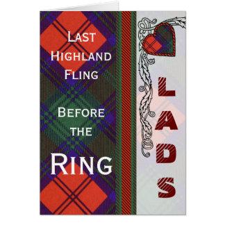 Lindsay schottischer Tartan-Herz-Entwurf Karte