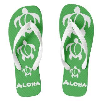 """LineA """"Aloha"""" weißes Honu Flip Flops"""
