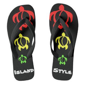LineA Insel-Art Rasta Honu Flip Flops