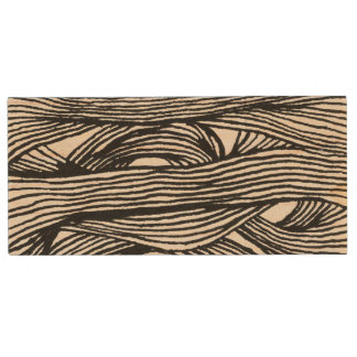 Lines and Loops modern Holz USB Stick