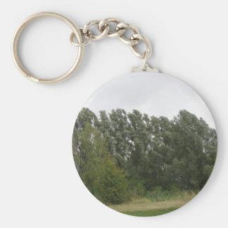 Linie der lehnenden Baum-Landschaft Keychain Schlüsselanhänger