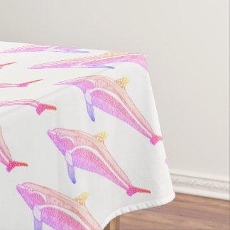 Linie Kunst-Entwurf des Delphin-zwei Tischdecke
