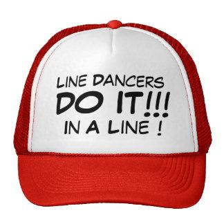 Linie Tänzer tun es in einer Linie! Kappe