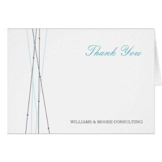 Linien u. Punkt-Geschäft danken Ihnen zu kardieren Mitteilungskarte