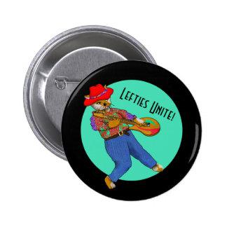 Linke Musiker vereinigen Runder Button 5,7 Cm