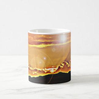 Linse-Aufflackern-Sturm-Wolken-Kaffeetasse/Tasse Kaffeetasse