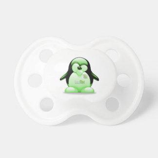 Linux-Minze mit Tux-Logo Schnuller