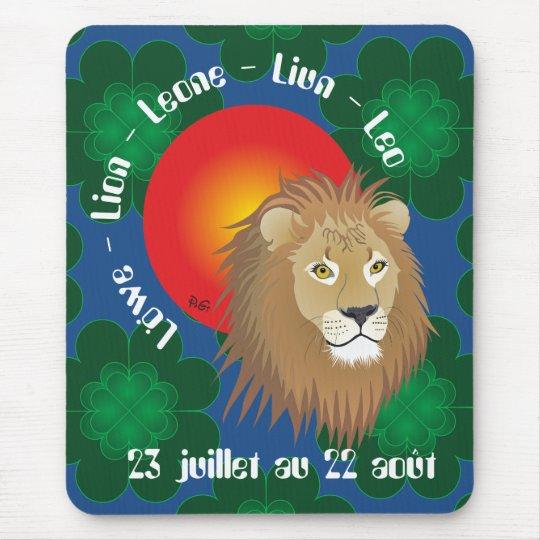 Lion 23 juillet au 22 août Tapi de souri Mousepad