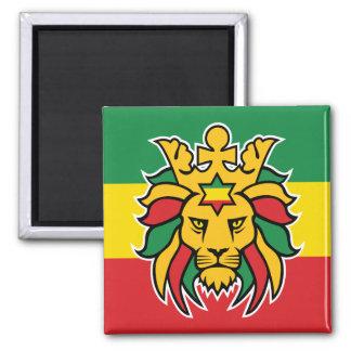 Lion de Rastafari de Judah Magnet Carré